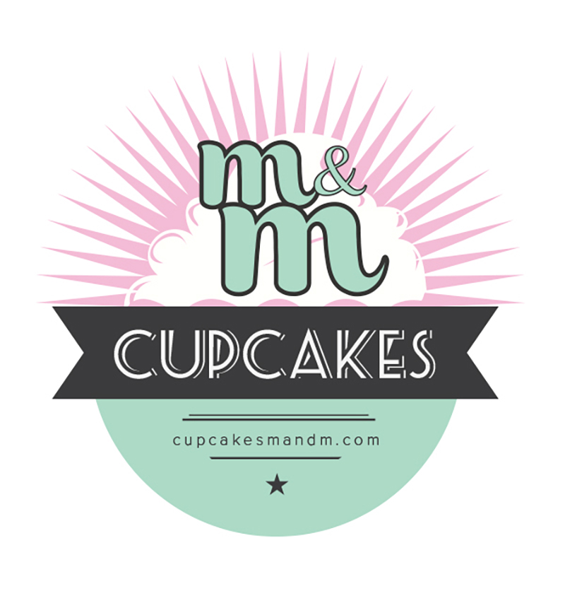 Logo para cafeteria m&m cupcakes